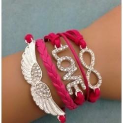 Pink Leather Bracelet