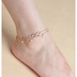 Golden Infinity Anklet with...