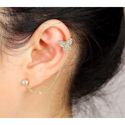Left-Ear Butterfly Earring...