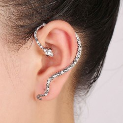 Serpent Earring for Left-Ear