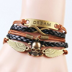 Leather Dream Bracelet with...
