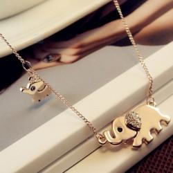 Golden Elephants Necklace