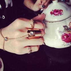 Golden Ring with Bracelet...