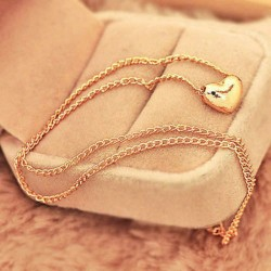 Small Golden Heart Necklace