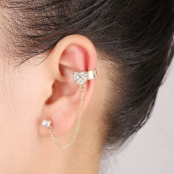 Left-Ear Heart Earring with...