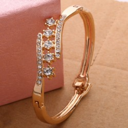 Golden Bangles with Diamonds