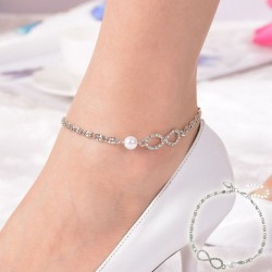 Silver Infinity Anklet with...