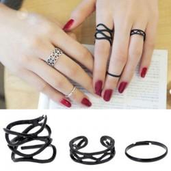 Set of 3 Black Rings