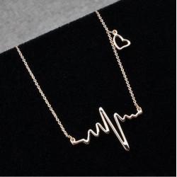 Golden Heartbeat Pendant